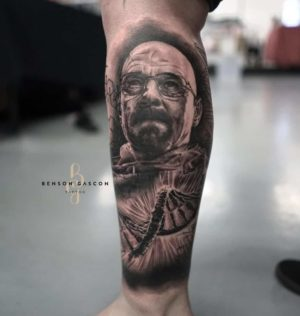 Benson Studio Black and Grey Tattoo Design