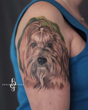 Benson Tattoo Studio Color Dog Design