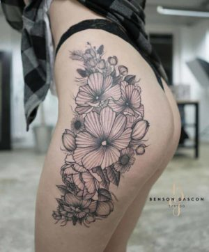 Benson Tattoo Studio Flower Design Tattoo