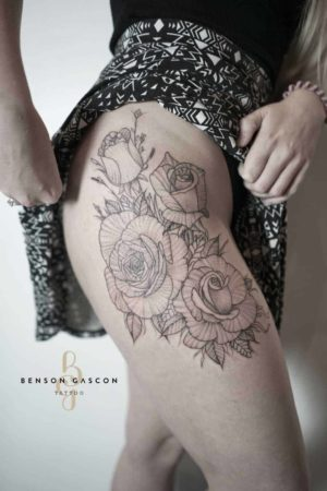 Benson Tattoo Studio Flower Style Tattoo