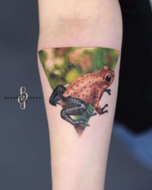Benson Tattoo Studio Color Frog Design