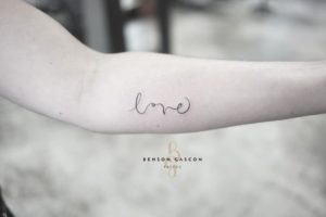 Benson Tattoo Studio Script Love Font Tattoo