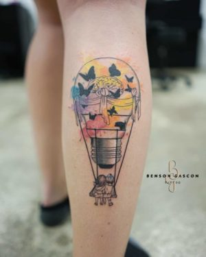Benson Tattoo Studio Water Color Tattoo Design