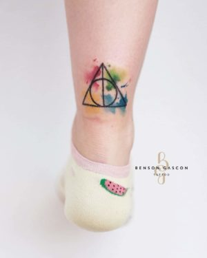 Benson Tattoo Studio Water Color Triangle Tattoo Design