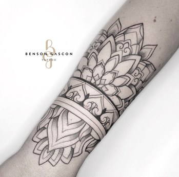 mandala design tattoo